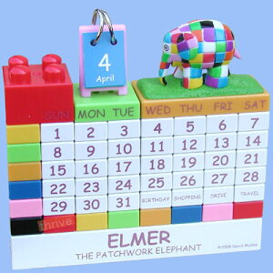 ELMER ブロック式 万年カレンダー(カラー)