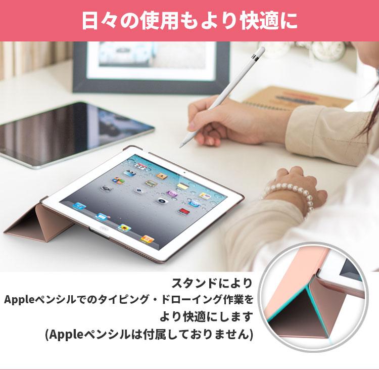 iPad2 iPad3 iPad4 ケース - ATiC Apple iPad 2/3/4 第二世代 第三世代 第四世代タブレット用半透明 PC + PUレザー 三つ折スタンドケース スマートカバー・クリアケースオートスリープ スリム傷つけ防止【スタンド機能】三つ折タイプ