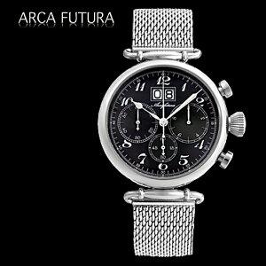 腕時計メンズ正規品ARCAFUTURAアルカフトゥーラクロノグラフ420BK-Mメンズ腕時計