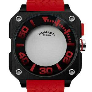腕時計メンズ正規品ROMAGOロマゴスクエアケースミラー文字盤RM018-0073PL-RDメンズ腕時計