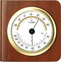 期間限定 温湿時計 メンズ レディース 時計 シチズン 温湿度計 TM148チャ 9CZ094-006 ※fu