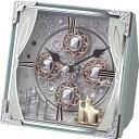 置き時計 メンズ レディース 時計 リズム時計製 スモールワールド コスモ 4RH784RH04