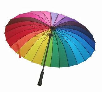 限期供應傘人分歧D 24件骨頭傘晴雨兼用和睦傘輪到傘遮陽傘雨傘傘男女兼用傘長傘niji花紋男女兼用服式雜貨男女兼用kode雨具下雨 ※fu