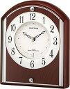 期間限定 置き時計 メンズ レディース 時計 リズム 電波置時計 パルロワイエ R704SR 4RY704SR06 ※fu