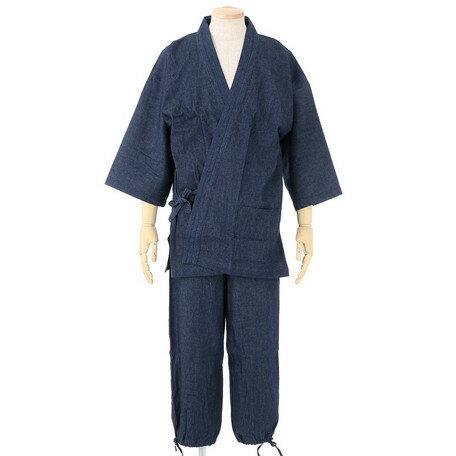 期間限定 作務衣 メンズ 和服 和装 デニム作務衣 メンズファッション 部屋着 ※fu