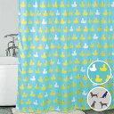 シャワーカーテン ダック ドッグ お風呂カーテン バスルーム 防水カーテン ユニットバス 間仕切り 目隠し可愛い おしゃれ 洗練 布製シャワーカーテン Duck&Dogポリエステル