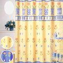【在庫限り】シャワーカーテン チューリップ 178×130cm お風呂カーテン 防水 防水カーテン 間仕切り カーテン 目隠しバスルーム ユニットバス お風呂 浴室 花柄 イラスト おしゃれ かわいい きれい 2色(イエロー・ブルー)青 黄色 tulip タマカネ