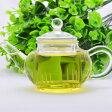 中国茶器・玻璃水平壺 150cc・内茶漉(耐熱ガラスの茶壺/急須/ティーポット)