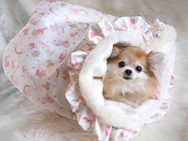 Otty(オッティ)+Little Twin Stars(キキララ)・3WAYベッドマット【小型犬 ベッド カドラー 寝袋 セレブ/ 送料無料】