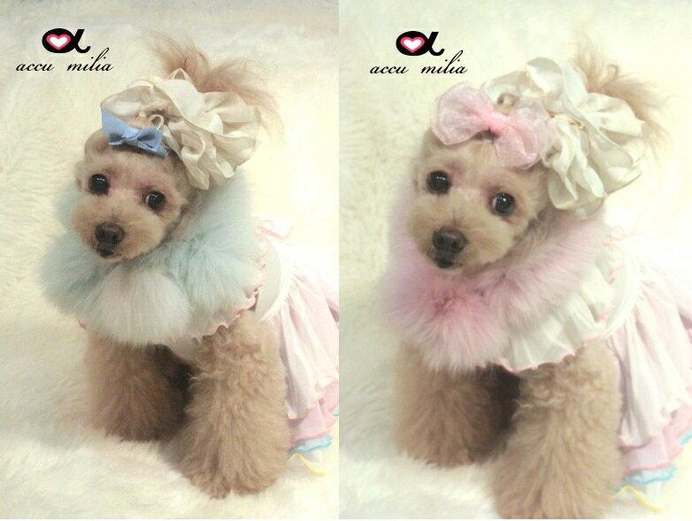 accu milia(アキュミリア)  フォックスマフラー(M)【小型犬 犬用 マフラー 首巻き セレブ /】
