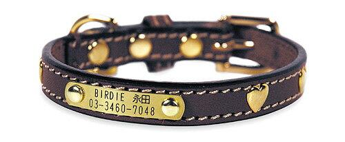 BIRDIE(バーディ) ハートメタルIDカラー(サイズ38)【中型犬 首輪 カジュアル カラー/】