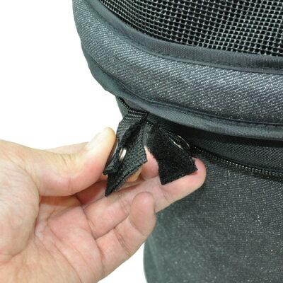 カートバッグのドームホックボタンに取り付けるだけで、ホックボタンが「マジックテープ」にな...