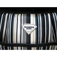 DiamondBaby(ダイヤモンドベイビー)マシュマロイージーキャリーバッグマルチストライプフロントポケット付(L)【小型犬犬用ペットキャリーバッグセレブ/送料無料】