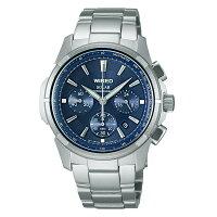 WIREDワイアードSEIKOセイコーソーラークロノ腕時計メンズブルーAGAD029【送料無料】【き手数料無料】