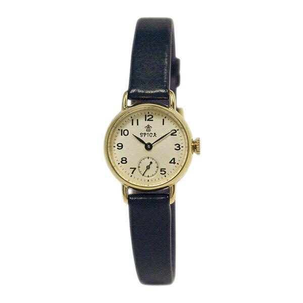 SPICA スピカ スモールセコンド TiCTACオリジナル イエローゴールド/ネイビーレザー レディース 腕時計 SPI16-YG/NVL