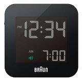 BRAUN ブラウン Digital Clock デジタルクロック ブラック 電波時計 【国内正規品】 BNC008BK-RC 【送料無料】【代引き手数料無料】
