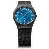 BERING ベーリング Ultra Slim Titanium ウルトラ スリム チタニウム 腕時計 【国内正規品】 メンズ ブルー 11937-227 【送料無料】【代引き手数料無料】