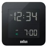 BRAUN ブラウン Digital Clock デジタルクロック ブラック 電波時計 【国内正規品】 BNC009BK-RC 【送料無料】【代引き手数料無料】