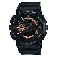 G-SHOCKジーショックCASIOカシオRoseGoldローズゴールド【国内正規品】腕時計メンズブラック/ローズゴールドGA-110RG-1AJF【送料無料】【き手数料無料】