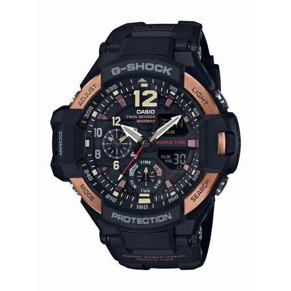 腕時計, メンズ腕時計 G-SHOCK GRAVITYMASTER Vinrtage Black Gold GA-1100RG-1AJF