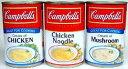 ティーダマーケットで買える「定形外発送OK!おいしい&簡単で人気のスープです【 Campbells 】 キャンベルス−プ (チキンクリーム ・ マッシュルームクリーム ・チキンヌードル 298g 〜 305g」の画像です。価格は216円になります。