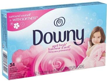 送料300円〜【 Downy 】ダウニーシート エイプリルフレッシュ 34枚入 乾燥機用柔軟剤 ( 柔軟シート )