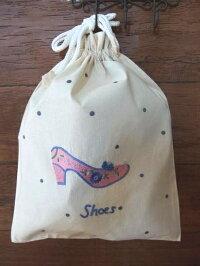 ハンドメイド刺繍巾着Lサイズ(パンプス)