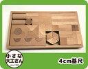 【送料無料】【箱入り積木セット】色んな積み木がたくさん入った積み木セット40ミリ基尺 三連アーチも三角形の積木もセットになっています 40-21