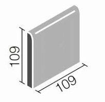 片面角・コーナー用108角(36角)壁用タイル1枚単位の販売109x109x5mm陶器質内壁タイル(キッチン・浴室・トイレ・補修)にお勧め(110角・11センチ)