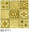 白ベージュ 50角 デザインタイル モザイクタイル 磁器 インディア シート(36粒)販売。 アンティーク イスラム風の絵タイル。壁、床(キッチン カウンター・テーブル・浴室) のDIYリフォームにお勧め。アジアンテイスト