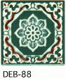 結晶 85角 デザインタイル アンティーク イスラム風(昭和レトロ)な絵タイルです。 壁、床(キッチン カウンター・テーブル・浴室)のDIYリフォーム、 プランター作成にお勧めです。コースター、鍋敷き等、インテリア雑貨としてもOK