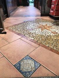 アンティークデザインタイル150角アステカトルコ・イスラム・ヨーロッパ風(モロッコ風・モロッカン)な磁器絵タイルです。インテリア壁、床(キッチンカウンター・浴室)のDIYリフォーム、に。モザイクタイル、インテリア雑貨