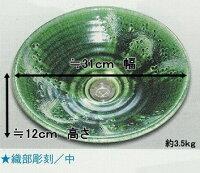 陶芸手洗い鉢美濃焼イエローガラス中