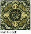 アンティーク デザインタイル 150角 アステカ イスラム風(昭和レトロ)な磁器絵タイルです。 壁、床(キッチン カウンター・テーブル・浴室)のDIYリフォーム、 プランター作成にお勧めです。コースター、鍋敷き等、インテリア雑貨としてもOK