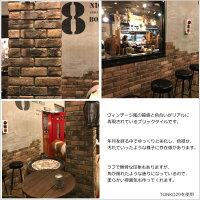 古レンガ調・ブリックタイル・壁用・施行例・アンティーク、カフェ風