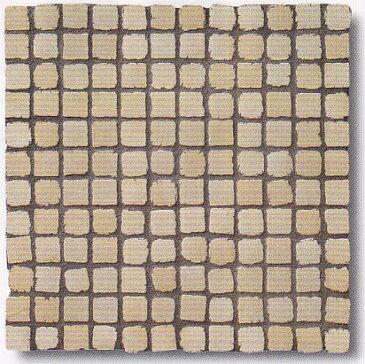 モザイクタイル シート アンティーク 25角 磁器 ウェザリング ベージュ。おしゃれなアンティーク、レトロモダン風。キッチン・玄関・テーブル・浴室(風呂)洗面所のDIYリフォームにOK。床・壁インテリア建材・日本製・美濃焼・耐熱モザイクタイル
