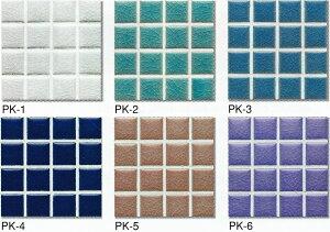 ガラスの貫入釉です。白・青・緑・ピンク・紫・水色クリスタル25角 モザイクタイル 1シート(...