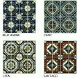 アンティーク モザイクタイル シート 75角 マジョルカ デザインタイル イスラム・ヨーロッパ風 磁器質。キッチンカウンター・トイレ・壁等のDIYにOK。