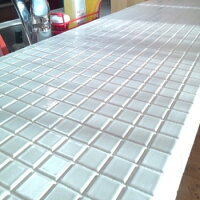 「白」25角モザイクタイル・磁器質・キッチンカウンターのDIYリフォーム・浴室・テーブルのリノベーションにお勧め