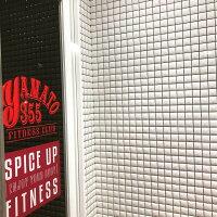 ミラーモザイクタイル50角磁器タイルシート(36粒)白と黒のおしゃれなデザインタイル壁用キッチンカウンター・浴室・洗面所・トイレ・門扉・玄関・塀のDIYリフォームインテリア雑貨にOK。キラキラ輝く豪華な建材