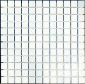 モザイクタイル シート 25角 磁器質 白マット オフホワイト。キッチン・壁・床等のDIYに ミックスデザインタイル対応、おしゃれなレトロモダン風。リビング・玄関・テーブル等のDIYリフォームにOK。インテリア建材・日本製・美濃焼です