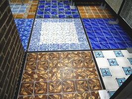 アンティーク150角デザインタイル花柄トルコ・イスラム・ヨーロッパ風(モロッコ風・モロッカン)な磁器絵タイルです。インテリア壁、床(キッチンカウンター・浴室)のDIYリフォームにお勧めです。モザイクタイル、インテリア雑貨