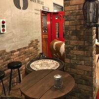 レンガタイル壁用アンティークブリック古いレトロな黄土色ミックス耐火煉瓦風キッチン外壁のDIYリフォームにOK。かるくて軽量で・ベランダ・塀・門扉等にも貼れるインテリア・エクステリア建材。おしゃれな古いカフェ風にも