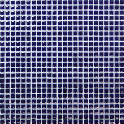 プロ用 10mm角モザイクタイル24列×24列 裏ネット張り NET-10K-09コバルトブループロ用 10mm角...
