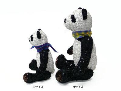 チリアビーズとスパンコール刺繍のパンダSサイズ