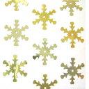 スパンコール・雪の結晶型ゴールド