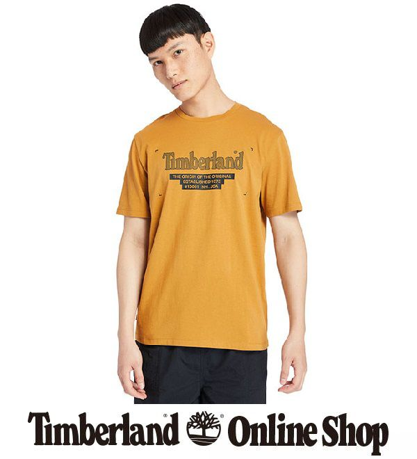 半袖 リニア ロゴ Tシャツ