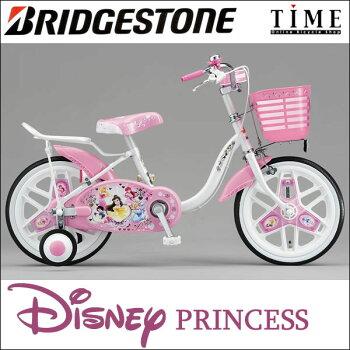 ブリヂストンNPR16新しくなったディズニープリンセス16型お姫さまになりたい女の子にディズニーキャラクターシリーズ「ディズニープリンセス」子供用自転車ブリジストン【完全組立済】