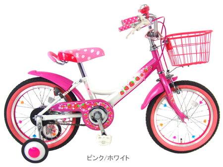 【完売】C.Dream(シードリーム)ヴェリーベリー(18インチ)VB18【いちご柄がたくさん付いたカラフルモデル!可愛らしさが人気です】【幼児自転車】JOYオリジナルプライベートブランド商品