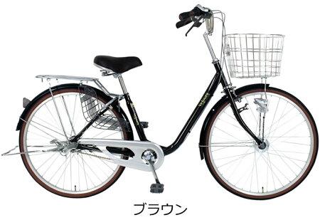 【防犯登録サービス後ろ子供乗せセット】C.Dream子供乗せ自転車ママチャリヴェロアRBC-009S3付26インチシマノ3段変速付